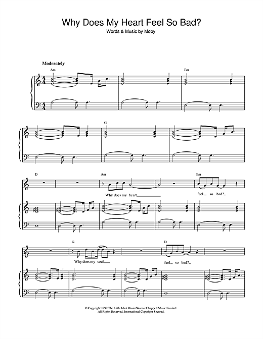 Why Does My Heart Feel So Bad? Sheet Music
