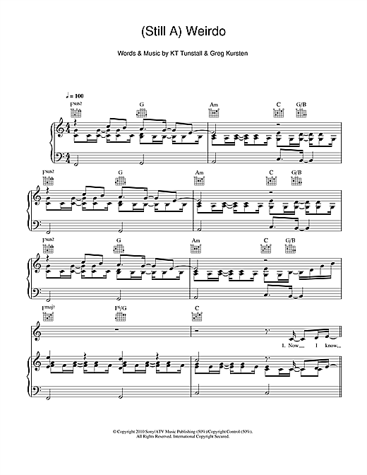 (Still A) Weirdo Sheet Music