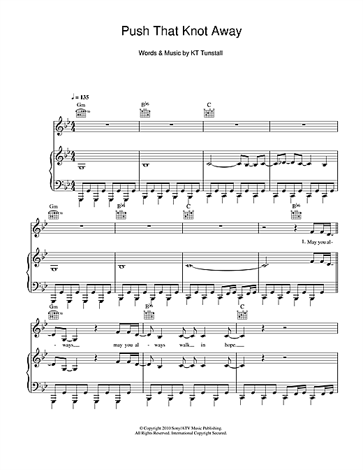 Push That Knot Away Sheet Music