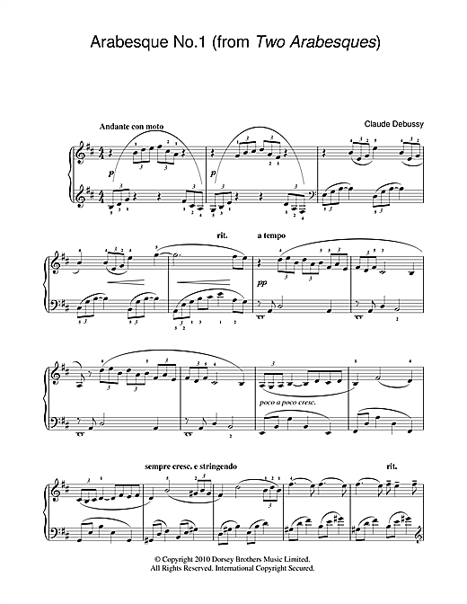 Arabesque No.1 Sheet Music