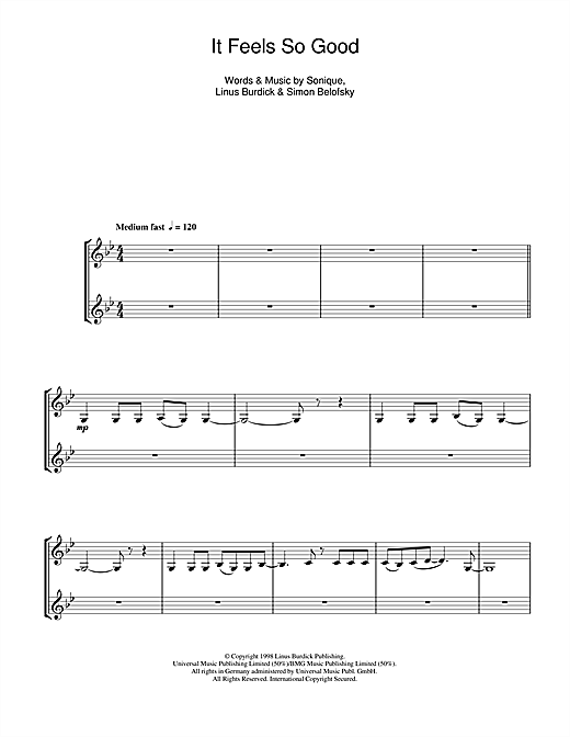 It Feels So Good (Clarinet Duet) Sheet Music