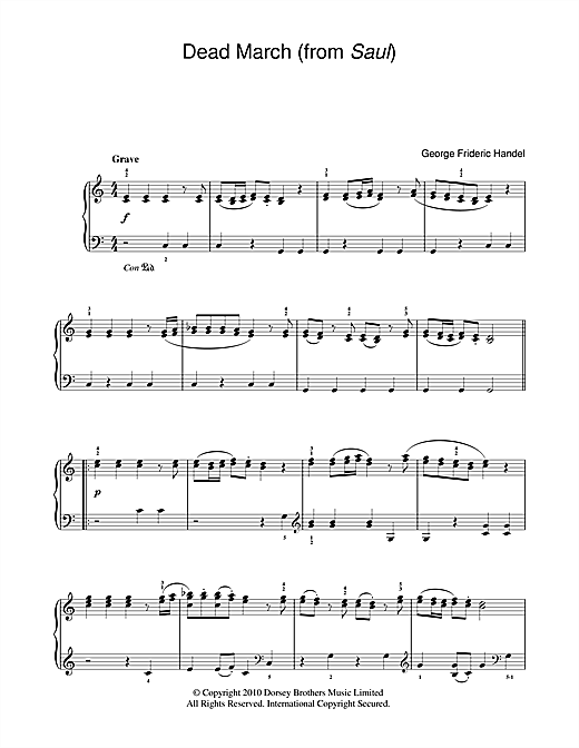 Dead March (from Saul) Sheet Music