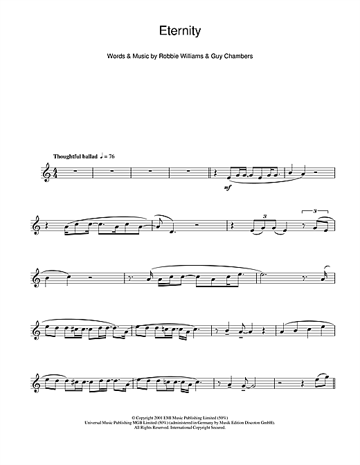 Eternity Sheet Music