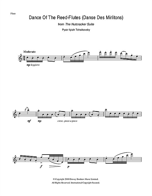 Dance Of The Reed Flutes (from The Nutcracker Suite) Sheet Music
