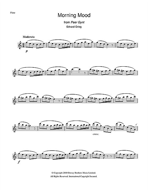 Morning (from Peer Gynt Suite No.1) (Flute Solo)