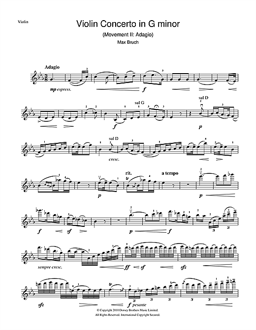 Violin Concerto No.1 In G Minor (2nd Movement) (Violin Solo)