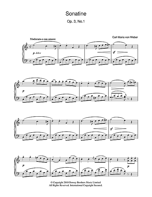 Sonatine, Op. 3, No. 1 Sheet Music