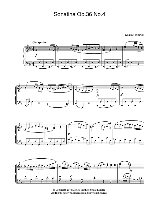 Sonatina Op. 36, No. 4 Partituras Digitales