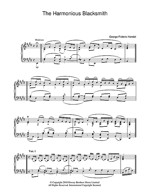 The Harmonious Blacksmith Sheet Music