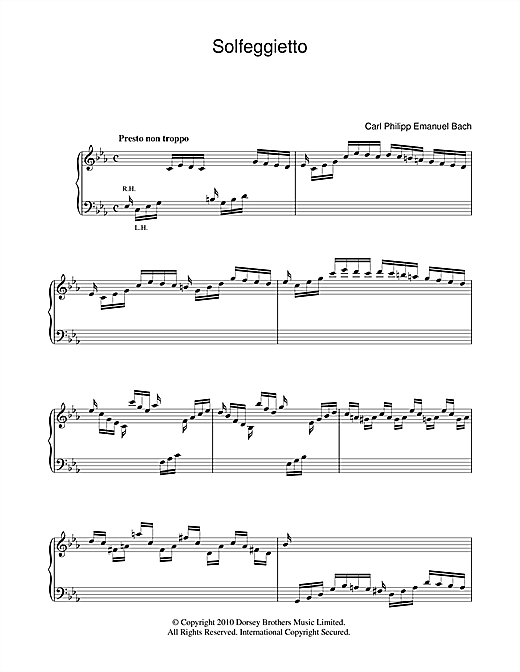 Solfeggietto Sheet Music