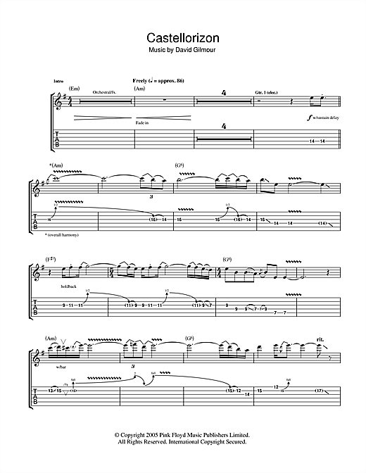 Castellorizon Sheet Music
