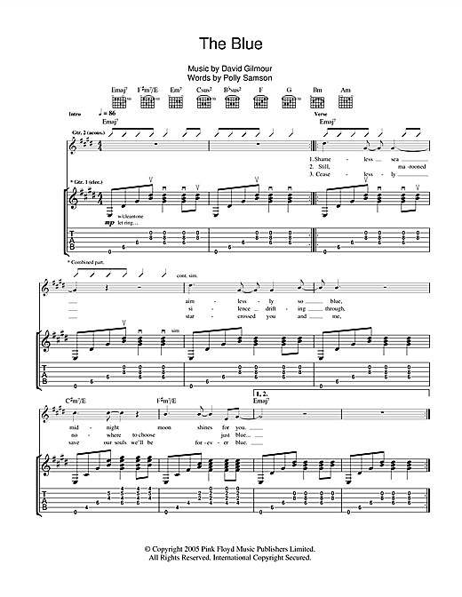 The Blue Sheet Music