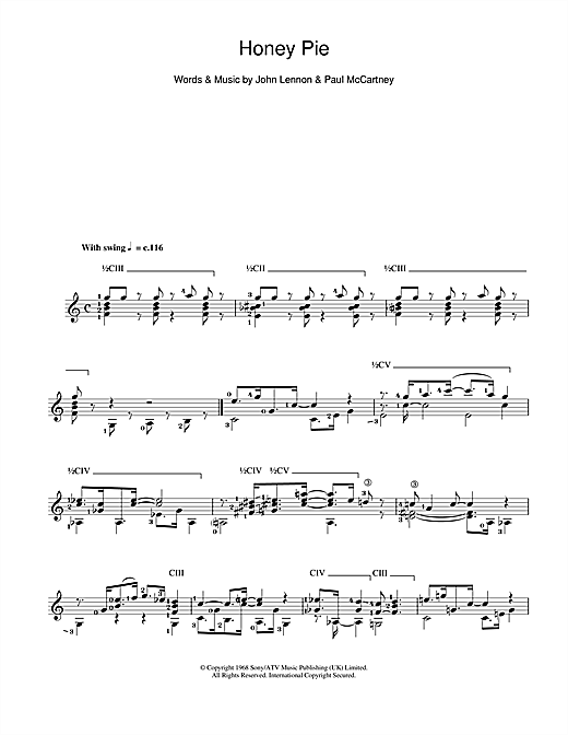 Honey Pie Sheet Music