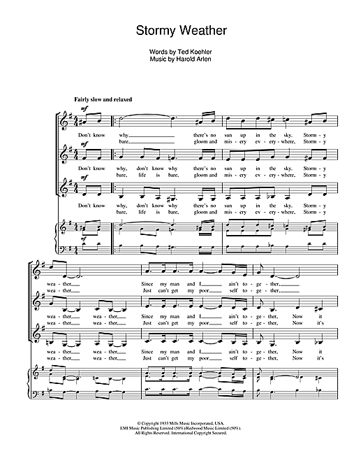 Stormy Weather Sheet Music