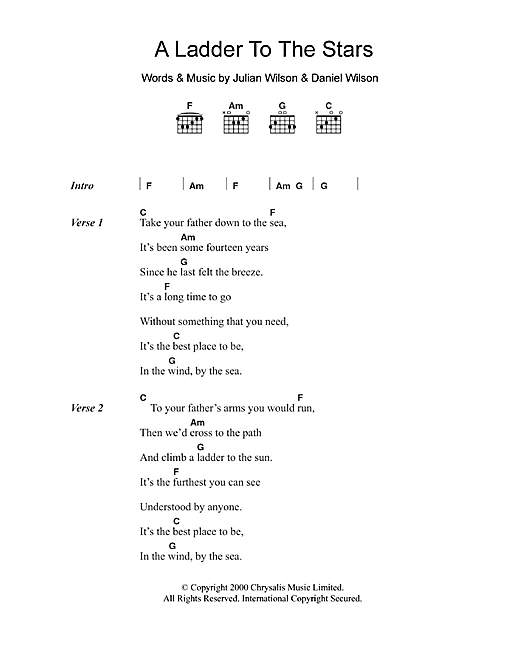 A Ladder To The Stars Sheet Music