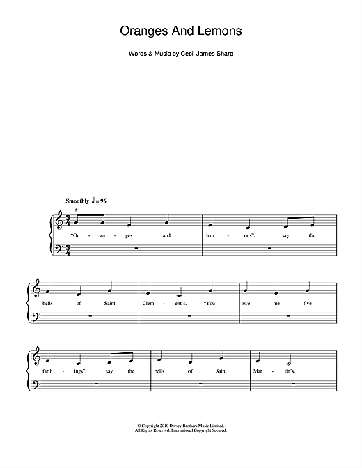 Oranges And Lemons Sheet Music