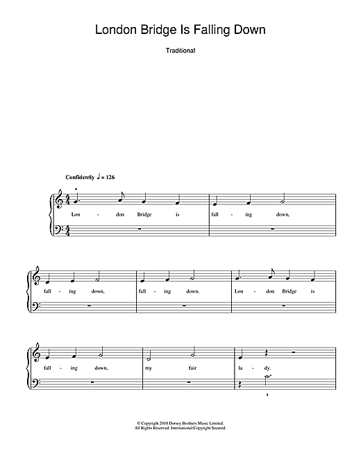 London Bridge Sheet Music