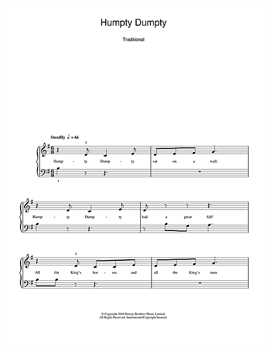 Humpty Dumpty Sheet Music