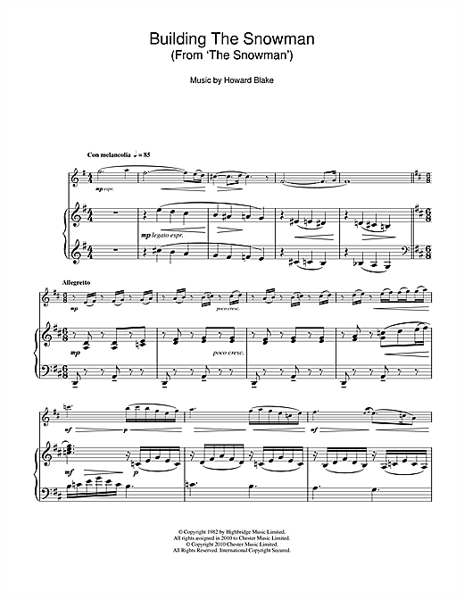 Building The Snowman (From 'The Snowman') Sheet Music