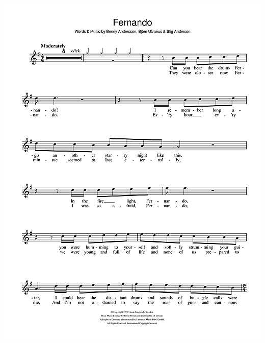 Fernando Sheet Music