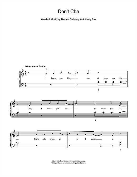 Don't Cha Sheet Music