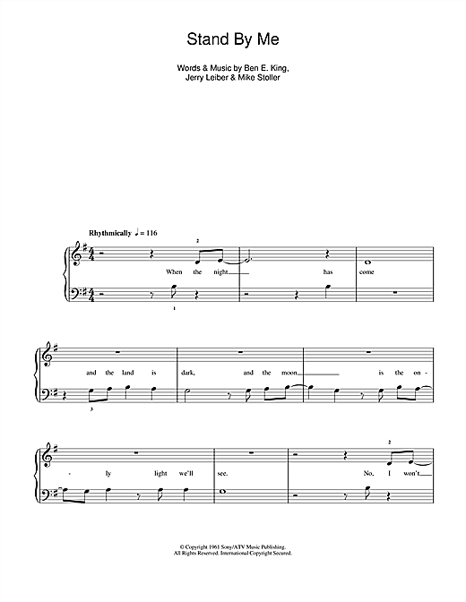 Stand By Me (5-Finger Piano)