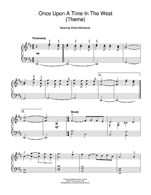 Once Upon A Time In The West (Theme) sheet music by Ennio ...