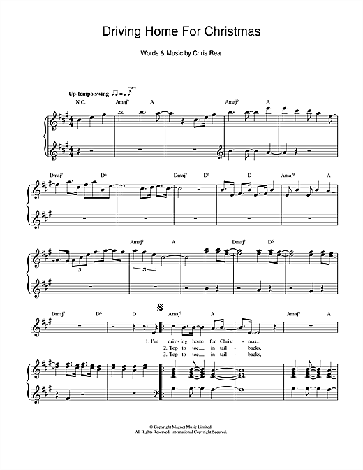 Driving Home For Christmas Sheet Music