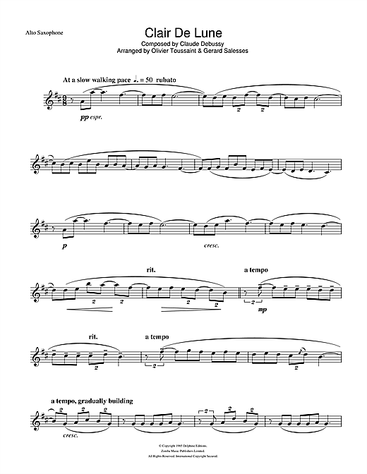 Clair De Lune Sheet Music