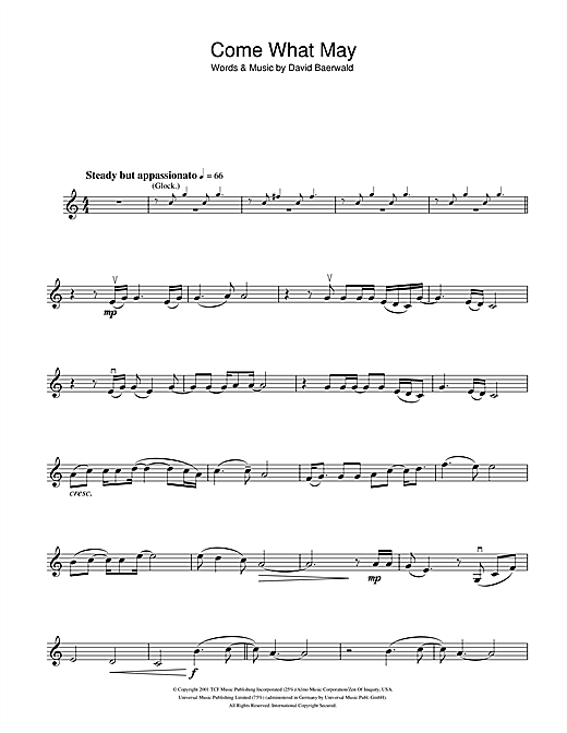 Come What May (from Moulin Rouge) Sheet Music