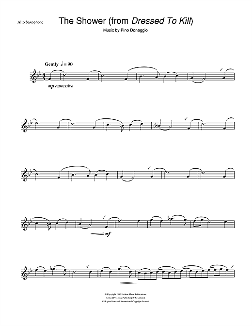The Shower (from Dressed To Kill) Sheet Music
