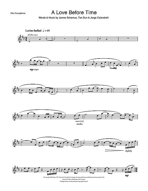 A Love Before Time Sheet Music