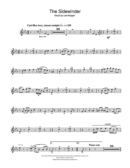 The Sidewinder Sheet Music
