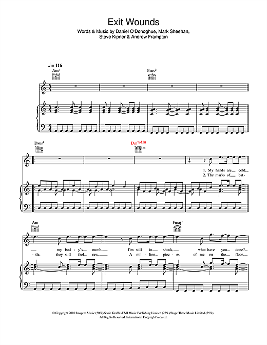 Exit Wounds Sheet Music