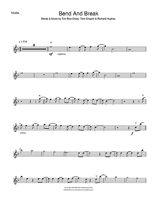 Bend And Break Sheet Music