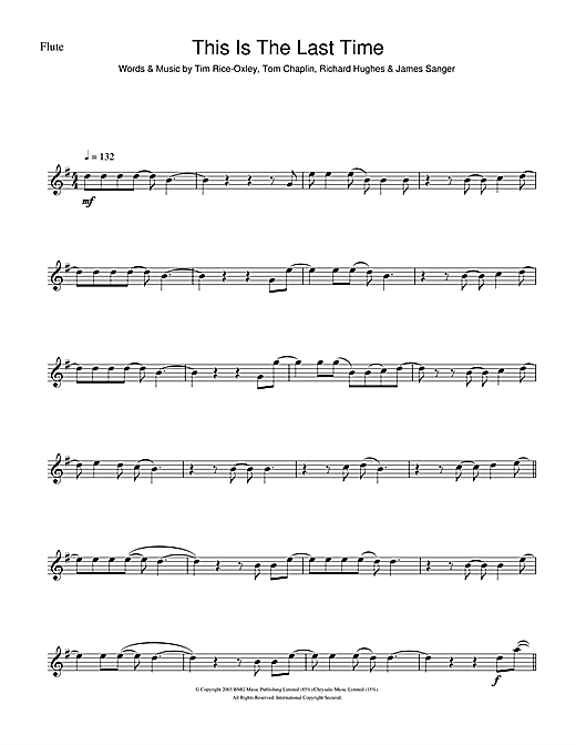 This Is The Last Time (Flute Solo)