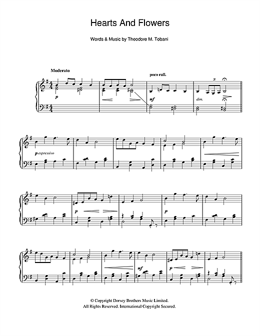 Hearts And Flowers Sheet Music