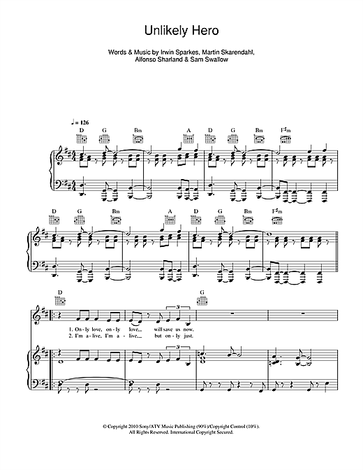 Unlikely Hero Sheet Music