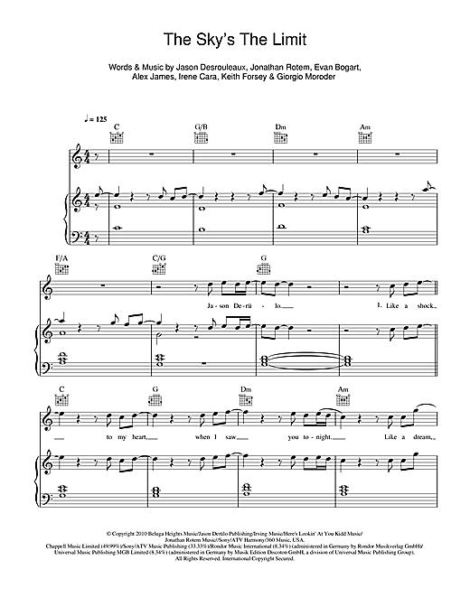 The Sky's The Limit Sheet Music