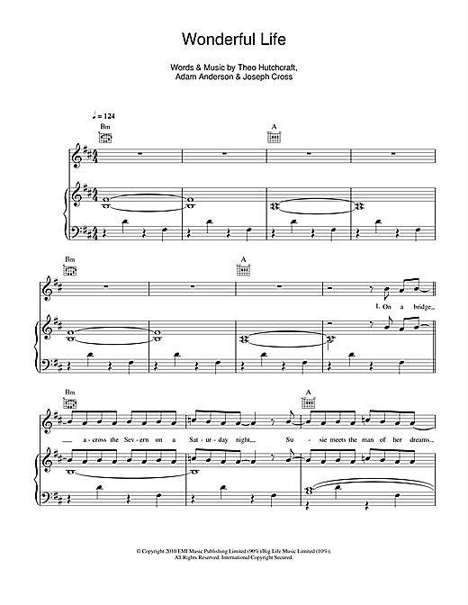 Wonderful Life Sheet Music