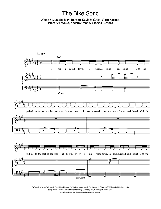 The Bike Song Sheet Music