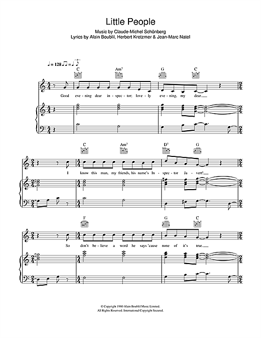 Little People (From Les Miserables) Sheet Music