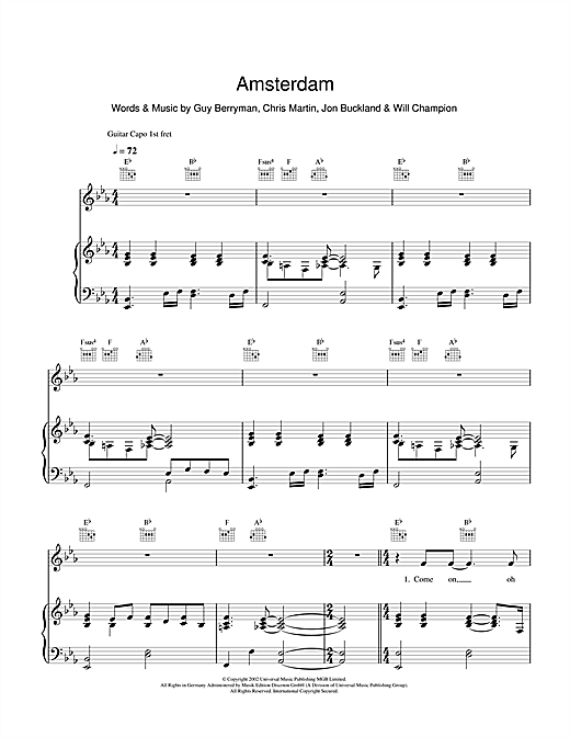 Amsterdam Sheet Music