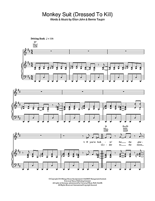 Monkey Suit Sheet Music