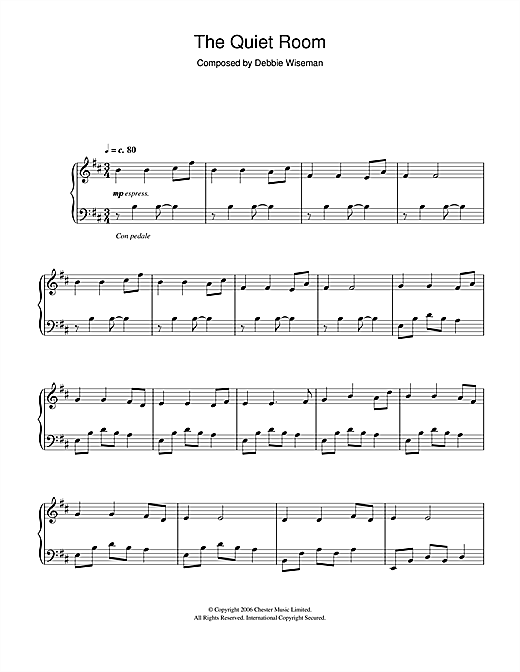 The Quiet Room Sheet Music