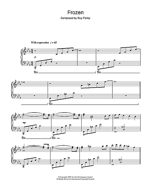 Frozen (from 'Cashback') Sheet Music