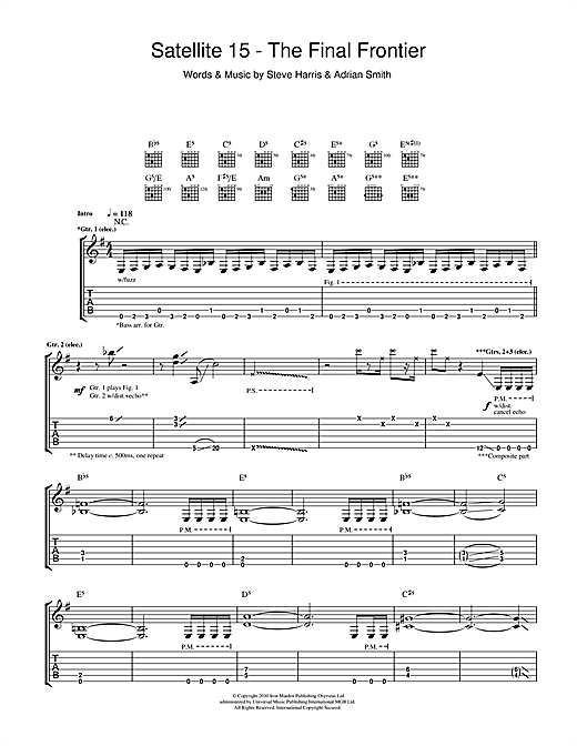Satellite 15 - The Final Frontier Sheet Music