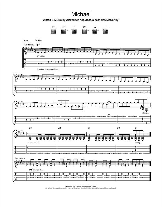Michael Sheet Music