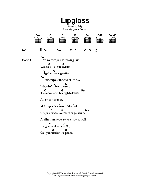Lipgloss Sheet Music