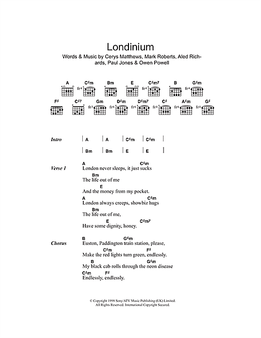 Londinium Sheet Music